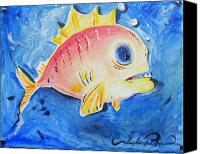 Joseph Palotas Canvas Prints - Piranha Art Canvas Print by Joseph Palotas