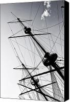 Pirate Canvas Prints - Pirate Ship Canvas Print by Joana Kruse
