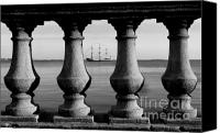 Black And White Canvas Prints - Pirate ship on the Bayshore Canvas Print by David Lee Thompson