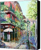 Scenes Painting Canvas Prints - Pirates Alley Canvas Print by Dianne Parks