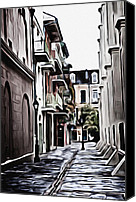James Griffin Canvas Prints - Pirates Alley French Quarter New Orleans Canvas Print by James Griffin