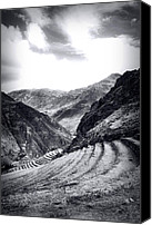 Grey Clouds Canvas Prints - Pisac Fields Canvas Print by Stuart Deacon