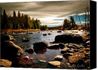 Fall Canvas Prints - Piscataquis River Dover-Foxcroft Maine Canvas Print by Bob Orsillo