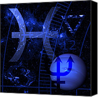 Neptune Canvas Prints - Pisces Canvas Print by JP Rhea