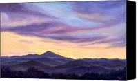 Parkway Canvas Prints - Pisgah Evening Canvas Print by Jeff Pittman