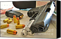 Remington Canvas Prints - Pistol 45 cal Glock 30sf Canvas Print by Rene Triay