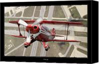 Artwork   Canvas Prints - Pitts Special S-2B Canvas Print by Larry McManus