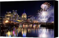 Steelers Canvas Prints - Pittsburgh 1  Canvas Print by Emmanuel Panagiotakis