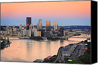 Steelers Canvas Prints - Pittsburgh 16 Canvas Print by Emmanuel Panagiotakis