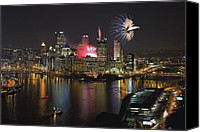 Steelers Canvas Prints - Pittsburgh 3 Canvas Print by Emmanuel Panagiotakis