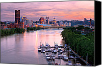 Steelers Canvas Prints - Pittsburgh Pa Spring of 2012 Canvas Print by Emmanuel Panagiotakis