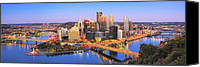 Steelers Canvas Prints - Pittsburgh Pano 22 Canvas Print by Emmanuel Panagiotakis