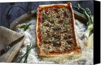 Swiss Canvas Prints - Pizza with herbs Canvas Print by Joana Kruse