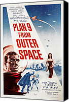 1959 Movies Canvas Prints - Plan 9 From Outer Space, 1959 Canvas Print by Everett