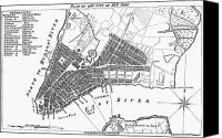 Manhattan Map Canvas Prints - Plan Of New York, 1789 Canvas Print by Granger