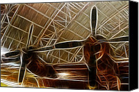 Capture Canvas Prints - Plane In The Hanger Canvas Print by Paul Ward
