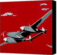Airplane Painting Canvas Prints - Plane Jane Canvas Print by Slade Roberts