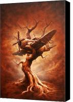 Airplane Painting Canvas Prints - Plane Old Tree Canvas Print by Victor Whitmill
