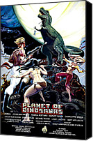 Horror Fantasy Movies Canvas Prints - Planet Of Dinosaurs, 1-sheet Poster Canvas Print by Everett