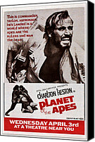 1960s Poster Art Canvas Prints - Planet Of The Apes, Top Charlton Canvas Print by Everett