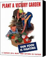 Propaganda Canvas Prints - Plant A Victory Garden  Canvas Print by War Is Hell Store