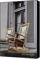 Rocking Chairs Photo Canvas Prints - Plantation Rocking Chairs Canvas Print by Carol Groenen