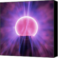 Plasma Photo Canvas Prints - Plasma Globe Canvas Print by Kevin Curtis
