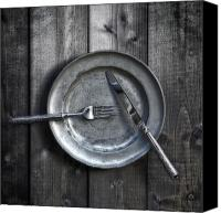 Flatware Canvas Prints - Plate With Silverware Canvas Print by Joana Kruse