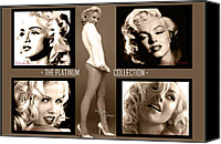 Britney Spears Canvas Prints - Platinum Collection Canvas Print by Anibal Diaz