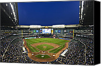 Major Canvas Prints - Play Ball Canvas Print by CJ Schmit