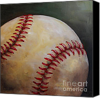 Mlb Painting Canvas Prints - Play Ball No. 2 Canvas Print by Kristine Kainer