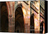 Prague Castle Canvas Prints - Play of light and shadow - Saint Vitus Cathedral Prague Castle Canvas Print by Christine Till