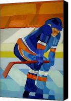 Sports Art Painting Canvas Prints - Player 1 Canvas Print by Yack Hockey Art