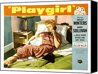 Fid Photo Canvas Prints - Playgirl, Shelley Winters, 1954 Canvas Print by Everett