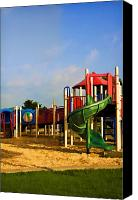 Playground Equipment Canvas Prints - Playground I Canvas Print by Ricky Barnard