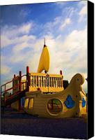 Playground Equipment Canvas Prints - Playground II Canvas Print by Ricky Barnard