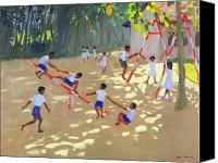 T-shirt Canvas Prints - Playground Sri Lanka Canvas Print by Andrew Macara