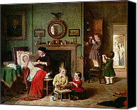 Little Boy Canvas Prints - Playing at Doctors Canvas Print by Frederick Daniel Hardy