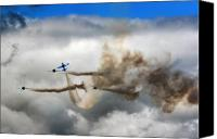 Extra 300 Canvas Prints - Playing Beneath The Clouds Canvas Print by Angel  Tarantella