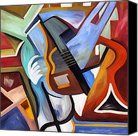 Corel Painter Canvas Prints - Playing guitar Canvas Print by Amarok A