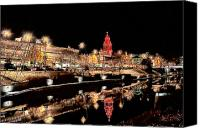 Kansas City Canvas Prints - Plaza Lights Kansas City Missouri Canvas Print by Joseph Ventura