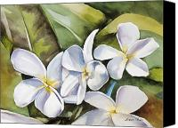 Plumeria Canvas Prints - Plumeria II Canvas Print by Han Choi - Printscapes