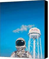 Science Painting Canvas Prints - Pluto Canvas Print by Scott Listfield