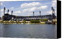 Pittsburgh Pirates Canvas Prints - PNC Park Pittsburgh PA Canvas Print by Kristen Massucci