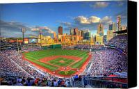 Parks Canvas Prints - PNC Park Canvas Print by Shawn Everhart