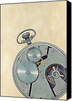 Featured Canvas Prints - Pocket Watch Canvas Print by Kathy Montgomery
