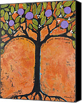 Abstract Organic Canvas Prints - Poe Tree Canvas Print by Blenda Tyvoll
