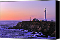 Mendocino Coast Canvas Prints - Point Arena Lighthouse Canvas Print by Richard Leon