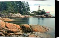 Atkinson Canvas Prints - Point Atkinson Lighthouse Canvas Print by Brandon Broderick