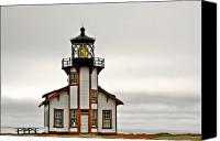 Damp Canvas Prints - Point Cabrillo Lighthouse California Canvas Print by Christine Till